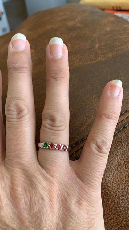 Sherri loves her Birthstone Ring!