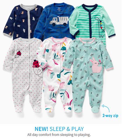 NEW Sleep & Play Zipper Onsies ~ $8 (Reg $16)