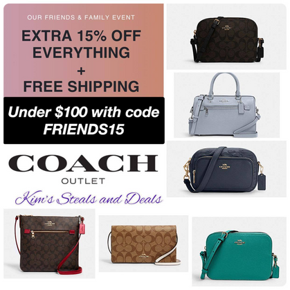 Coach Outlet Bags under $100 Shipped!!
