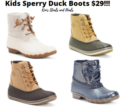 UNBELEIVABLE Deal on Little and Big Kid Sperry Duck Boots