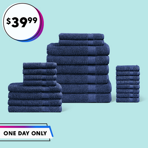 24-Piece Towel Set ONLY $39.99!!