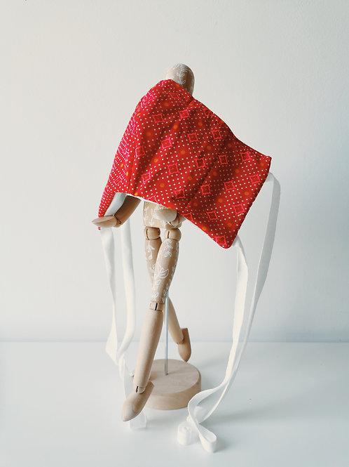 Masque Rouge à motifs géométriques