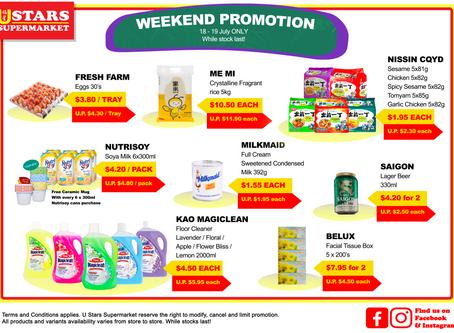 18 July weekend promotion