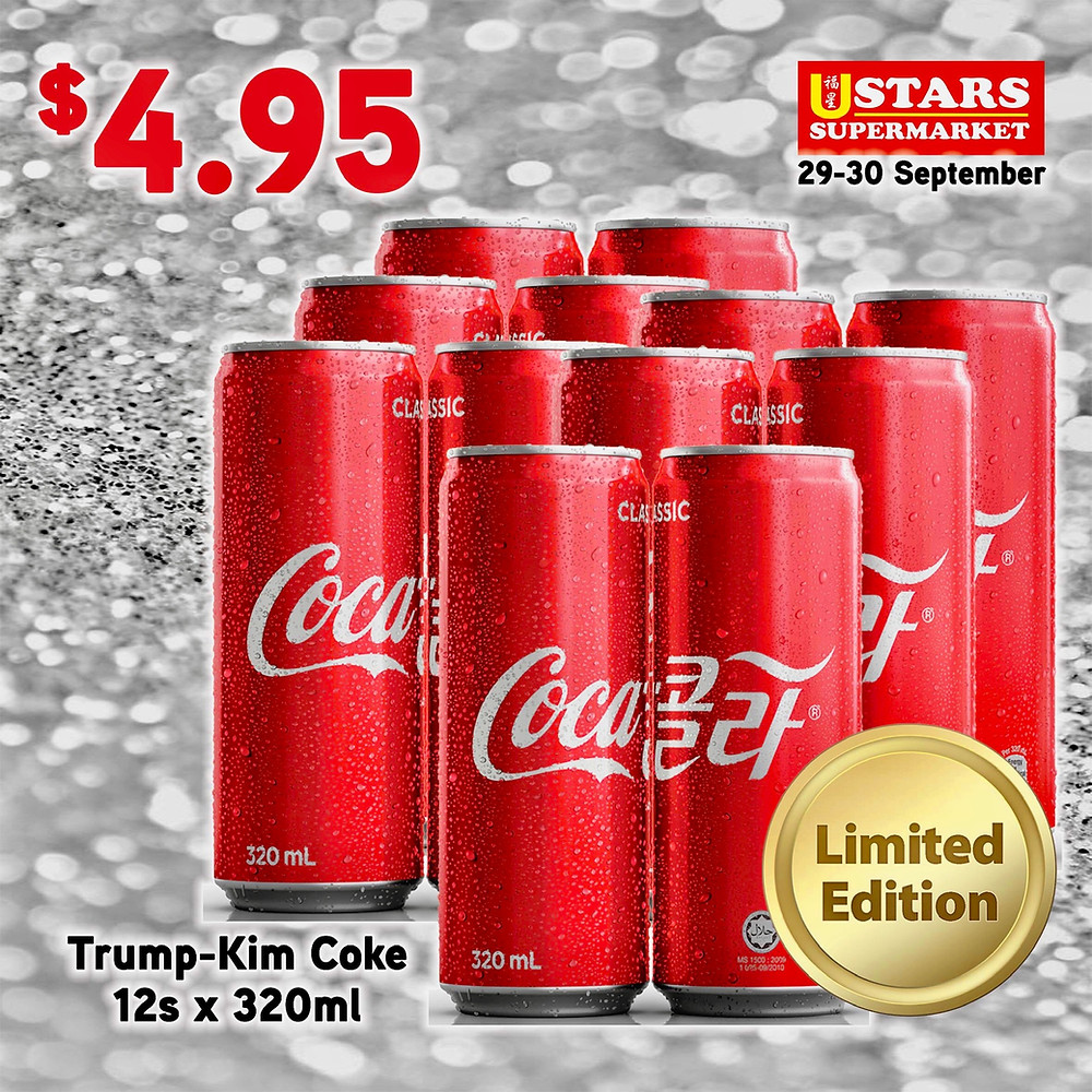 Limited Edition Trump-Kim Summit Coca Cola