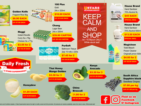 Stay Calm, Keep Shopping and Stay healthy
