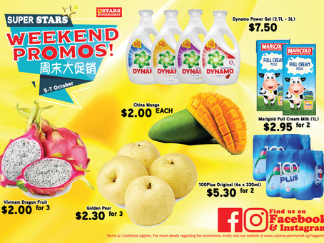 Weekend Promo for 5-7 Oct