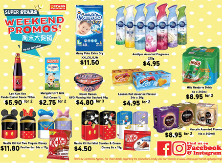 Weekend Promotion for 19-21 Oct