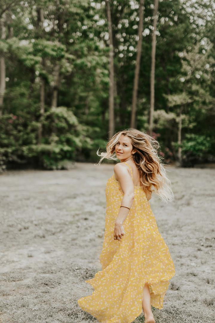 Scattered Primrose dress