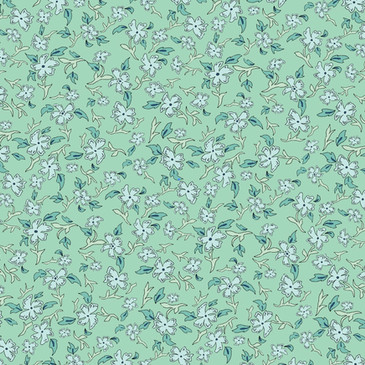 Green Ditsy Floral