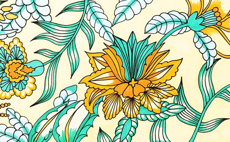 Hand Illustrated Strip Print