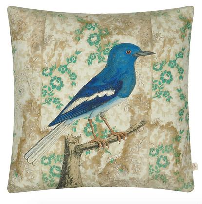 Coussin Wallpaper Birds Sépia