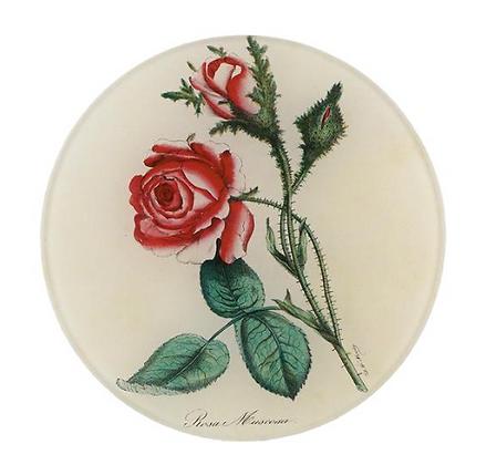 Assiette de décoration - ROSE