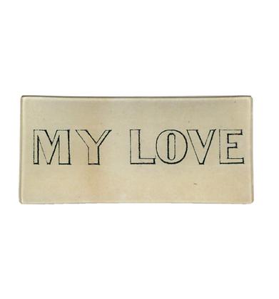 Assiette de décoration - MY LOVE