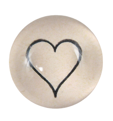 Dome Paperweight - Line Heart