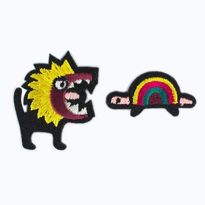 Ecusson - LION MANGEUR DE TORTUE