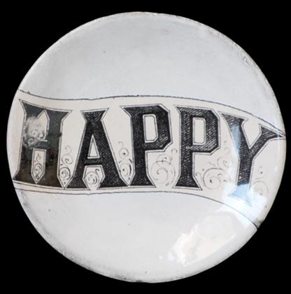 Assiette Plate Happy - JOHN DERIAN