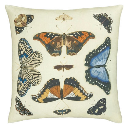 Coussin Mirrored Butterflies Parchment