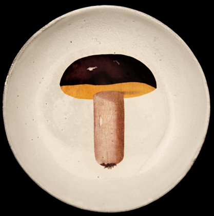 Assiette creuse BOLET BRONZE - JOHN DERIAN