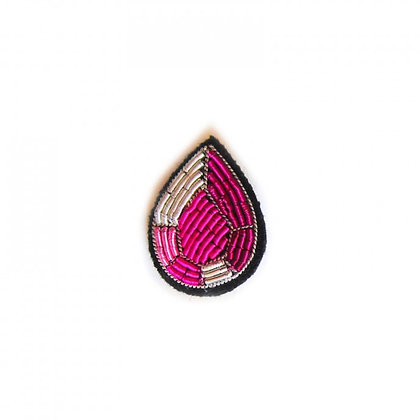 Broche - PETIT RUBIS ROSE