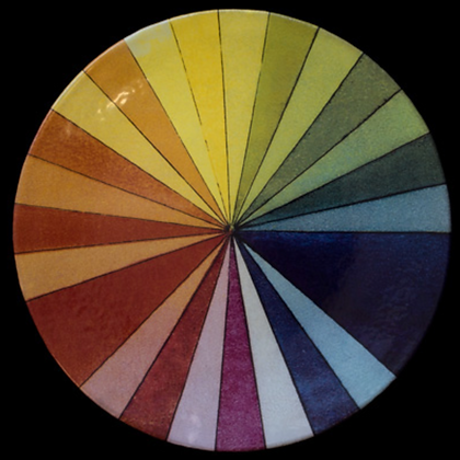 Assiette Plate Roue Colorée  - JOHN DERIAN