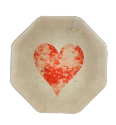 Octogonal Charm - Heart