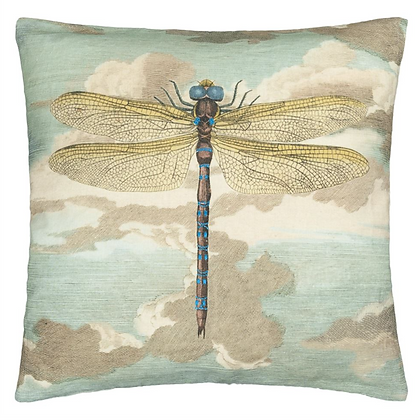 Coussin Dragonfly over Clouds Sky Blu