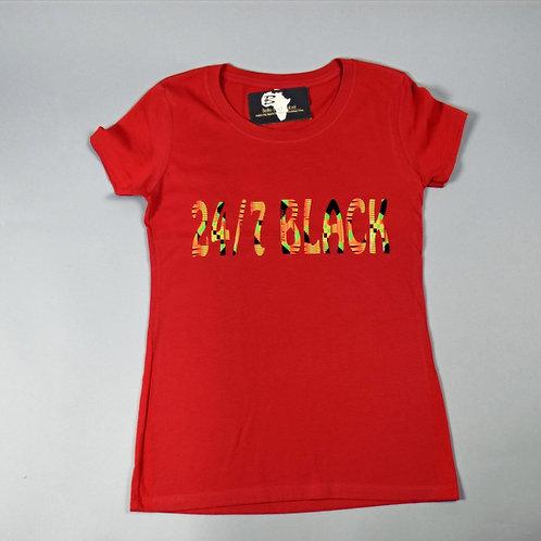 24/7 Black Red T Women's