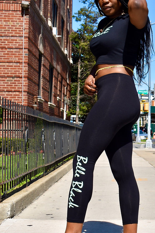 Black & Mint Leggings