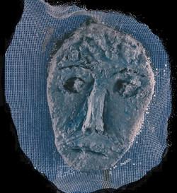 Máscara n. 1  (cimento e tela)