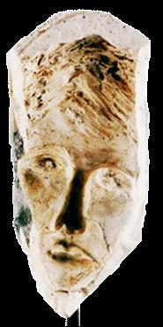 Máscara n. 6  (gesso e cimento)