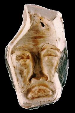 Máscara n. 5  (gesso e cimento)