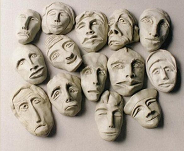 Grupo de máscaras (resina)