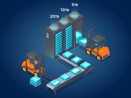 Almacenamiento eficiente de altos volúmenes de datos