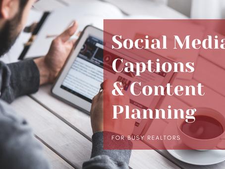 Social Media Caption Writing & Content Planning