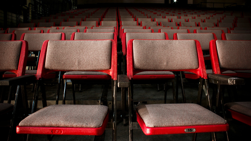 empty, seats, theater, social distancing