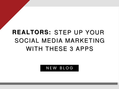 Realtors: Step up your social media marketing with these 3 apps!