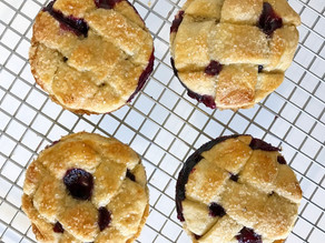 Apple and Blueberry Pies