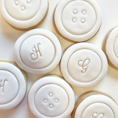 Monogram Button Cookies