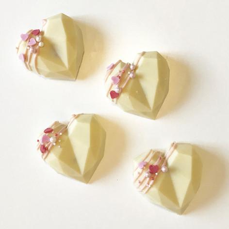 Cake Truffle Hearts