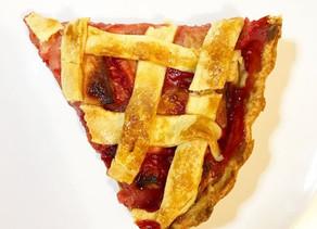 Raspberry and apple pie
