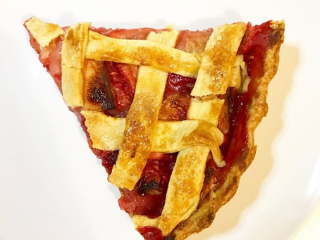 Raspberry and apple pie