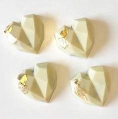 White chocolate hearts