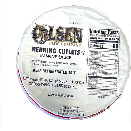 copy of Olsen's Herring in Wine Sauce - 5#