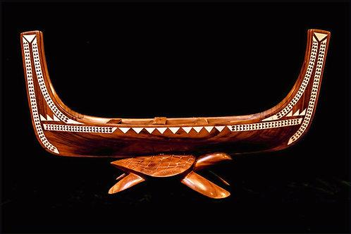 CANOE WITH TURTLE BASE - SOLOMON ISLANDS
