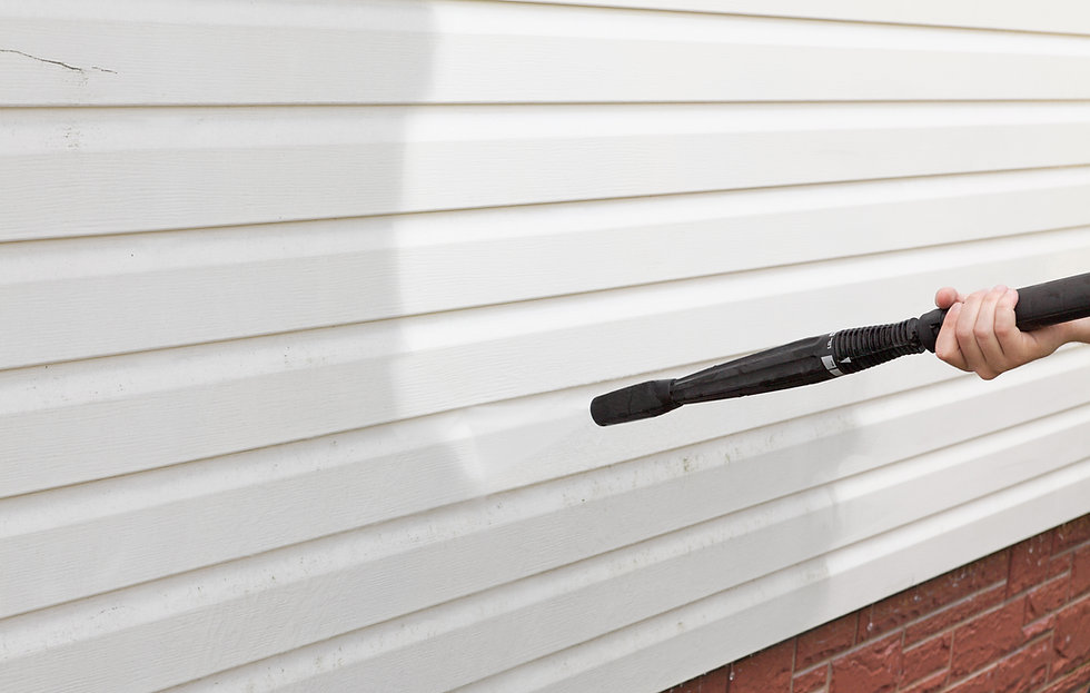 cleaning the wall (vinyl siding) high pr