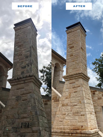 Before / After Brick Chimney