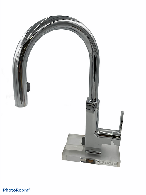 Moen STo 1.5 GPM Single Hole Pull Down Kitchen Faucet with Reflex, Duralast
