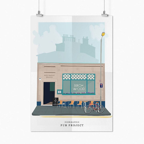 The Birchwood in Marchmont - Jess Parker - A3 Poster
