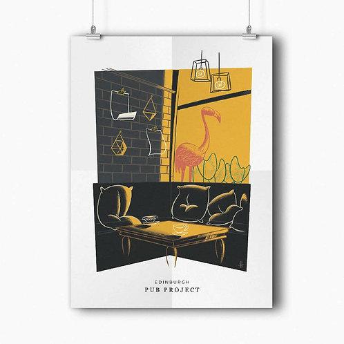 Colony Gourmet - Edinburgh by Alex Harwood   A3 Poster