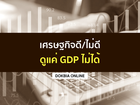 เศรษฐกิจดี/ไม่ดี...ดูแค่ GDP ไม่ได้